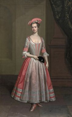 1720 Henrietta Hobart, The Hon. Mrs Howard, later Countess of Suffolk, in a masquerade dress attributed to Thomas Gibson (Blickling Hall - Blickling, North Norfolk UK) Thomas Gibson, Masquerade Dresses, Masquerade Costumes, Masquerade Party, Modern Fashion, Vintage Fashion, European Costumes, Mardi Gras, 18th Century Fashion