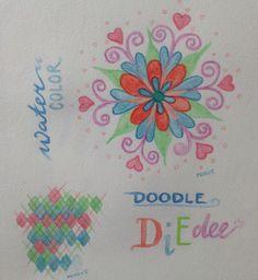 Doodles met aquarelpotloden