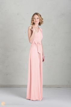 Brautjungfernkleid lang rosa
