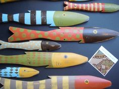 fish+pottery   CUSTOM FISH Pottery Barn Inspired Art Hand Painted Reclaimed Wood ...