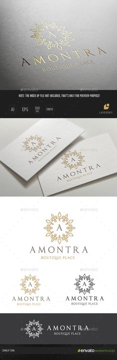 Amontra Boutique Brand — Vector EPS #infinity #clean • Available here → https://graphicriver.net/item/amontra-boutique-brand/13469665?ref=pxcr