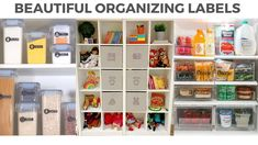 Beautiful Organizing Labels for your Home Organizing Labels, Organization, Easy Projects, Home Projects, Getting Organized, Declutter, Easy Diy, Bee, Beautiful