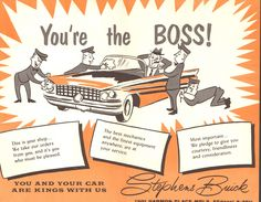 Win Stephens Buick was one of the biggest car dealers in town in the 1950s and 1960s. In 1963, just a few years after this advertisement, the company moved to a brand-new vast dealership, Buicktown, in St. Louis Park. From the Hennepin History Museum collection.