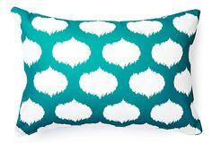 devine designs outdoor pillow teal