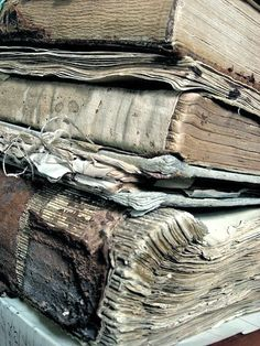 raggedy, tattered old books