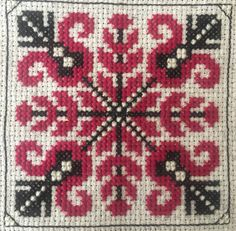 Cross Stitch Designs, Cross Stitch Patterns, Lassi, Christmas Sweaters, Diy And Crafts, Mandala, Traditional, Embroidery, Handmade