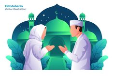, Ramadhan Mubarak - Vector Illustration- Suitable for your design needs, All elements on this template are editable with adobe illustrator! Flat Design Illustration, Digital Illustration, Graphic Illustration, Funny Illustration, Eid Mubarak Vector, Mubarak Ramadan, Islam, Web Design, Affinity Designer