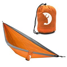 Camping Furniture - Single Person Adventure Hammock made of Ripstop Nylon by Tribe Provisions Includes carabiners and lashing cables *** More info could be found at the image url. Best Camping Hammock, Portable Hammock, Backpacking Gear, Camping Gear, Camping Hacks, Rope Hammock, Hammocks, Mice Repellent, Camping Furniture