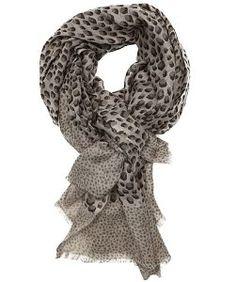 Beck Sondergaardarmy silk-wool blend 'Scratchy Dots' fringed scarf