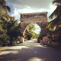 Entrance to Sian Ka'an Biosphere, right outside the gate of Casa de las Olas - Photo by megnolanvr