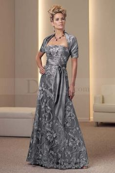 Mother Of The Bride And Groom Gray Dress Prom Dresses