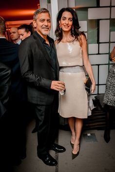 January 17, 2017 George and Amal Clooney
