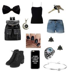 """Creepypasta oc spirit"" by sillygirl14 on Polyvore featuring T By Alexander Wang, LE3NO, Casetify, Topshop and Lucky Brand"