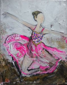 ARTFINDER: Delight by Kumi Rajagopal - Delight - acrylic on boxed canvas ready to hang.  This beautiful painting of ballerina is painted using pallet knife and simple brush strokes.  Painted on bo...