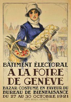 1921 Geneva Fair, Swiss vintage poster