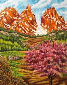 KEVIN FORD FINE ART - TOWERING SUMMIT - acrylic on canvas 22 x 28 www.kevinfordfineart.com