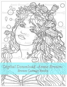 Adult Coloring Page Mermaid