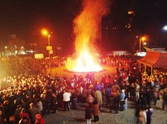 "This is a ritual performed middle or end of March on a celebration called ""Sirni zagovezni"". On this day people ask for forgiveness and show remorse for all the wrong things they have done. At the evening a big fire is made and people gather together around it, eat, drink and dance :)"