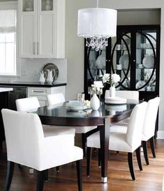 The clean-lined, contemporary dining area is informal yet elegant, making it ideal for both everyday and special occasions.