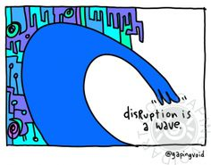 Disruption is a Wave | gapingvoid art