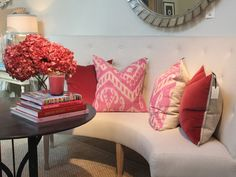 banquette and pillows