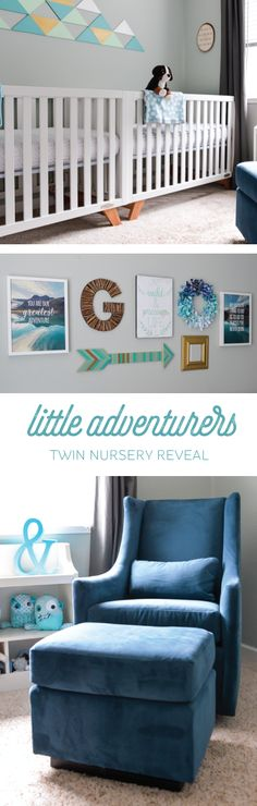 Our little adventurer twin nursery!