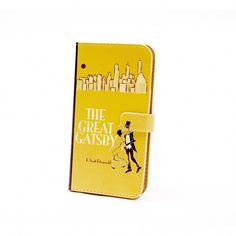 Chick Lit Designs - Great Gatsby Phone Flip Case Wallet For Iphone And Samsung Cell Phone Wallet, Flip Phone Case, Flip Phones, The Great Gatsby, Gatsby Book, Cell Phones In School, Elephant Bracelet, Mellow Yellow, Color Yellow