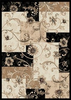 Home Dynamix Optimum 11025 Black 92-Inch-by-124-Inch Traditional Area Rug.  DININGROOM