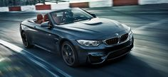 The BMW M4 Convertible in Mineral Grey Metallic.