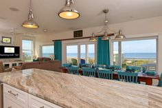 House of Turquoise: Sunnyside Up - Cape San Blas, FL - Kitchen and Dining room