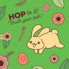 BRUSHING YOUR TEETH is no race but you should still hop to it! #spring #dentalhumor #thevillages #leesburgfl