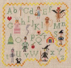 Primitive Wizard of Oz, via Flickr. My favourite Wizard of Oz cross stitch!