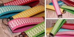 Chevron Wrist Key Fobs!