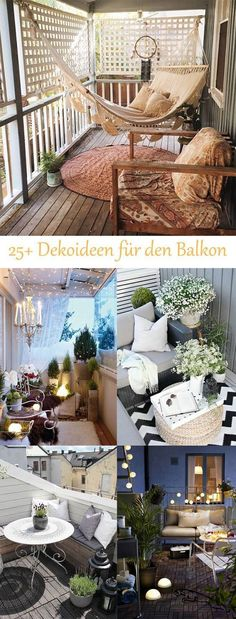 DIY decorating ideas for your home - decorate the balcony ., balkon design DIY decorating ideas for your home - decorate the balcony . Outdoor Spaces, Outdoor Living, Outdoor Decor, Narrow Balcony, Patio Privacy, Apartment Balconies, Apartment Walls, Room Decor Bedroom, House Design