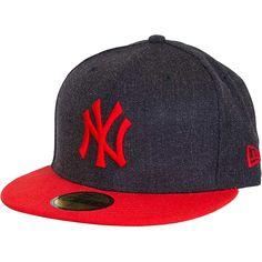 New Era 59FIFTY Cap Heather Contrast NY Yankees navy/rot ★★★★★