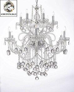 Swarovski Crystal Trimmed Chandelier Lighting Chandeliers With H38 X W32 A46 B6 3 385 6 Sw