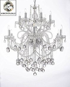 Magnificent Chandelier Online Shopping swarovski crystal trimmed chandelier chandeliers lighting w 40mm crystal balls This Magnificent Chandelier Is Dressed With Crystal This Beautiful Chandelier Is Decorated With Crystal That Capture And Reflect The Light Of The Candle