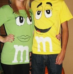 m&m shirts. Cute!