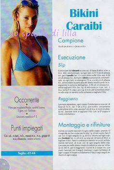 lo spazio di lilla: Bikini, top & pareo all'uncinetto / Crocheted Bikini,tops and beachrobe