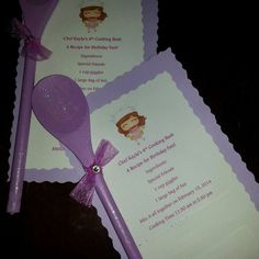 Chef birthday party invite.