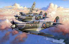 """Spitfire Mk.Vb, 303 Dywizjon ,,Warszawski"""" im. Tadeusza Kościuszki"""", 1942r."""
