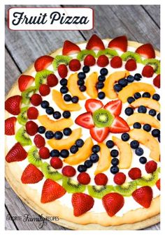 This Easy Fruit Pizza is the result of a fruit pizza I tasted at a Pampered Chef party many years ago. What a genius idea! Sugar cookie dough, cream cheese, fresh fruit…what could possibly be better!