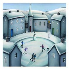 Wonderland, my fav picture by Artist Paul Horton Paul Horton, Homemade Art, Color Psychology, Square Card, Green Art, Naive Art, Whimsical Art, Winter Scenes, Painting & Drawing