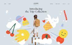 Leader Bag Co, on siteInspire: a showcase of the best web design inspiration. Website Design Inspiration, Graphic Design Inspiration, Minimal Web Design, Theme Design, Banner Design, Web Layout, Layout Design, Website Layout, Design Design