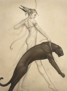 Michael Parkes Goddess of the Hunt