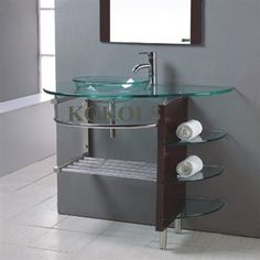 36 Quot Inch Hws Bathroom Tempered Clear Glass Vessel Sink Vanity Faucet Xd018s Ebay This