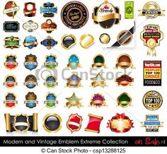 Vector - Modern and Vintage Emblems Extreme Collection. - stock illustration, royalty free illustrations, stock clip art icon, stock clipart icons, logo, line art, EPS picture, pictures, graphic, graphics, drawing, drawings, vector image, artwork, EPS vector art