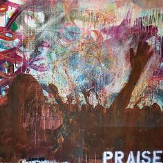 "Latitude Run Praise Wall Art on Wrapped Canvas Size: 12"" H x 12"" W x 1.5"" D"