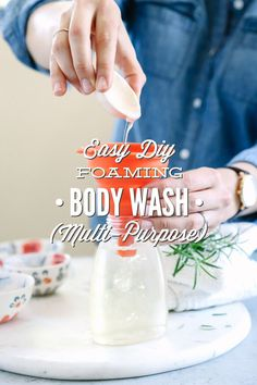 A 4-ingredient homemade foaming body wash recipe that's super easy to make. This simple recipe will clean your skin, naturally!