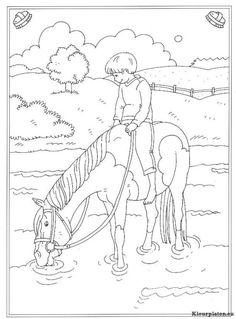 Kleurplaten Van Wilde Paarden.9 Fantastische Afbeeldingen Over Kleurplaat Paard Horses Kid